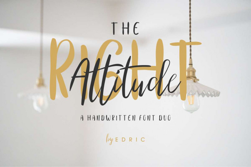 The Right Attitude Script Font Duo