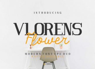 Vlorens Flower Fonts Duo