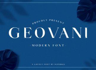 Geovani - Modern Font