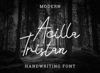 Acilla Tristan Handwriting Font