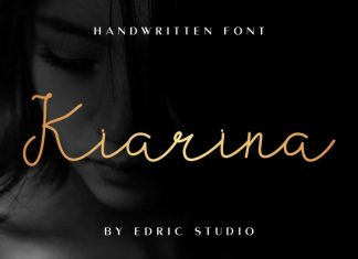 Kiarina Handwriting Font