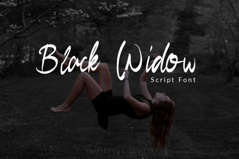 Free Black Widow Script Font