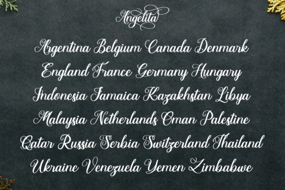 Angelita Script Font