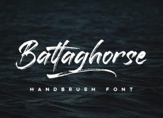 Battaghorse Brush Font Demo