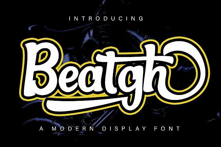 Beatgh Bold Script Font