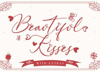 Beautiful Kisses Script Font
