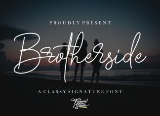 Brotherside Signature Font