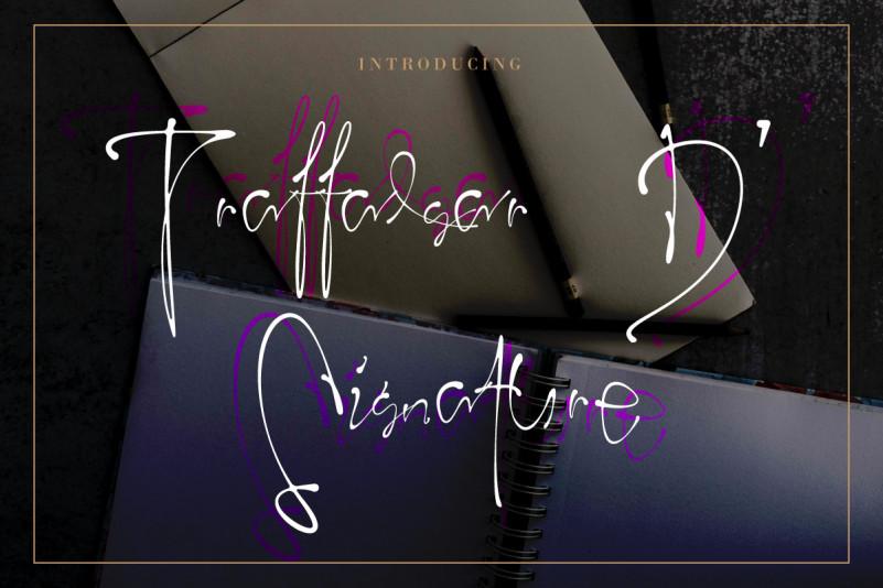 Traffalgar D' Signature Font