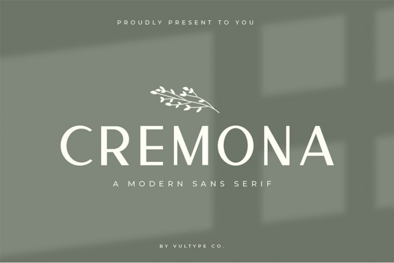 Cremona Sans Serif Font