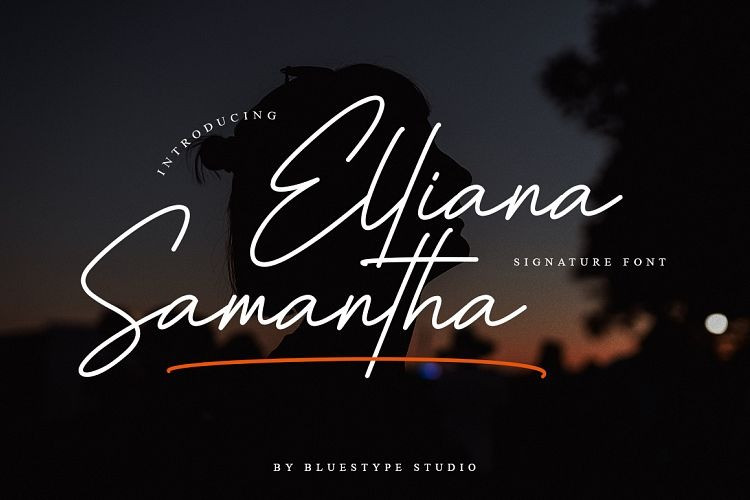 Elliana Samantha Signature Font