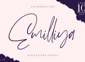 Emilliya Signature Font