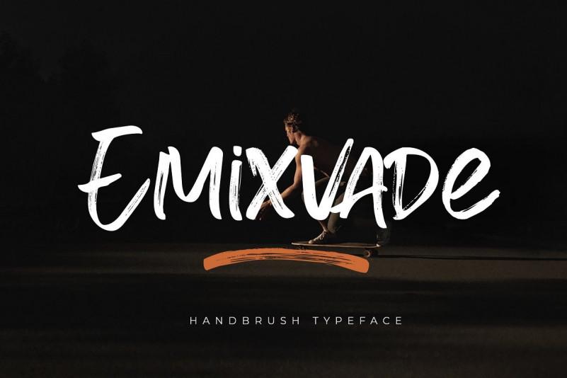 Emixvade Brush Font
