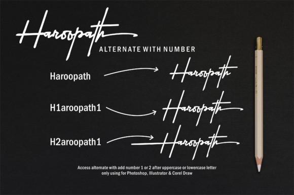 Haroopath Signature Font
