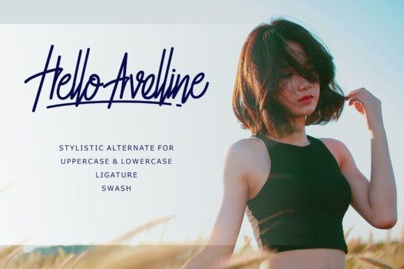 Hello Avelline - Monoline Font