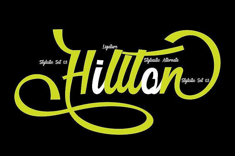 Hillton - Script Font
