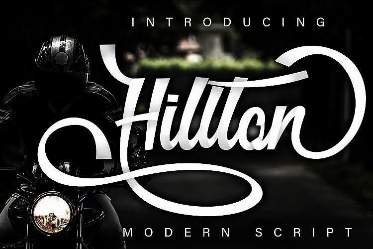 Hillton - Modern Script Font
