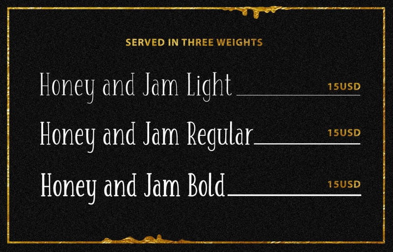 Honey & Jam Font Family
