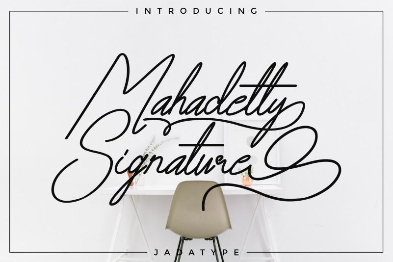 Mahadetty Signature Font