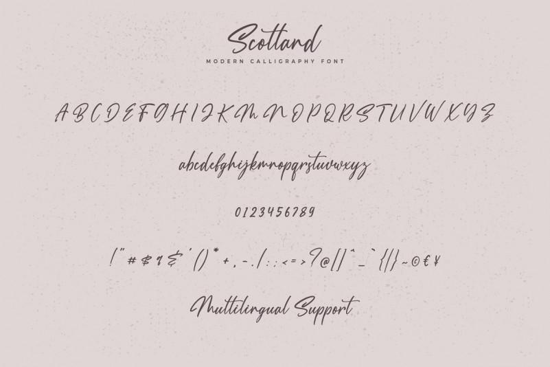Scotland Calligraphy Font