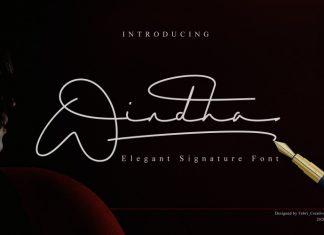 Windha Signature Font