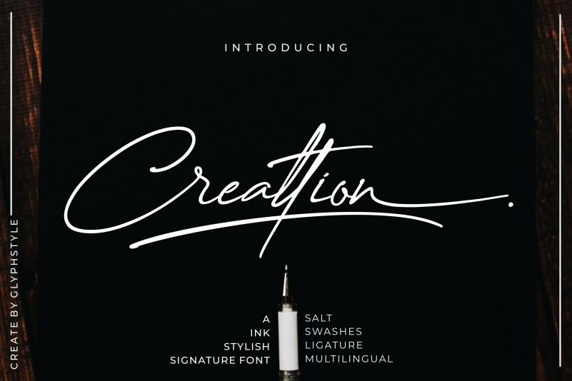 Creattion - Signature Font