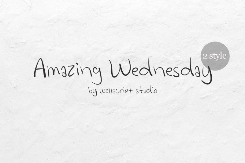 Amazing Wednesday - Handwritten Font