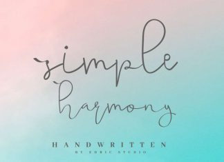 Simple Harmony Handwritting Font
