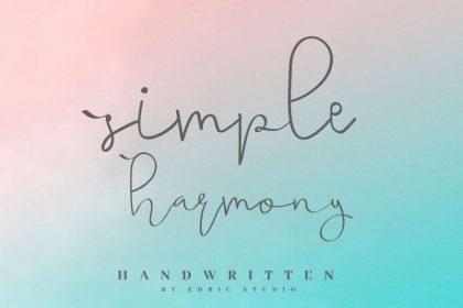 Simple Harmony Handwritting Font