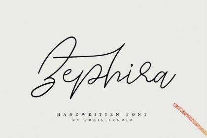 Zephira Signature Font