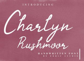 Charlyn Rushmoor Handwriting Font