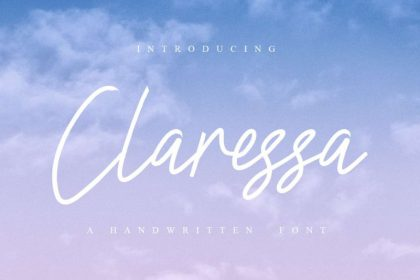 Claressa Handwriting Font