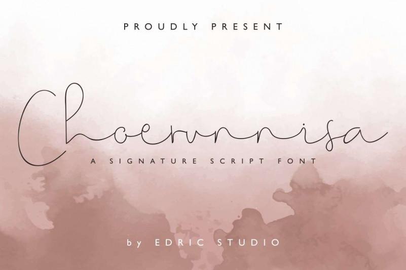 Choerunnisa Signature Font