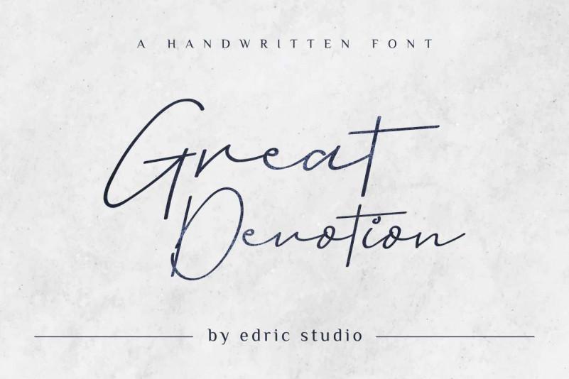 Great Devotion Handwritting Font
