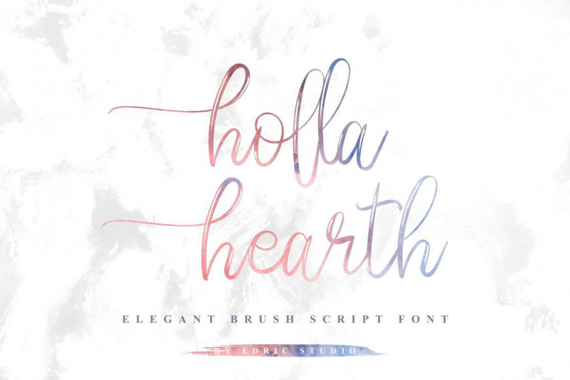Holla hearth Brush Font