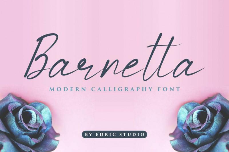Barnetta Calligraphy Font