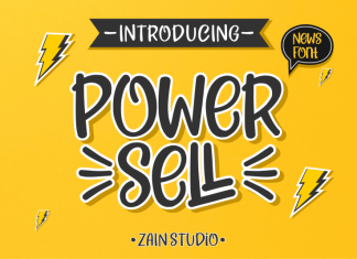 Power Sell - Fun Font