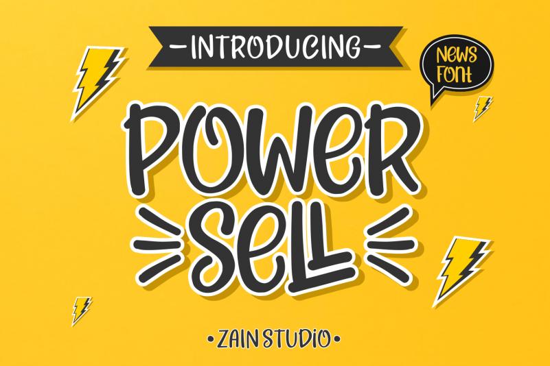 Power Sell - Fun Font