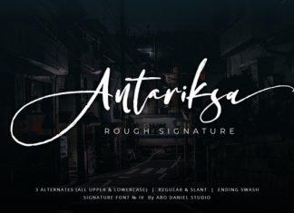Antariksa Script Font