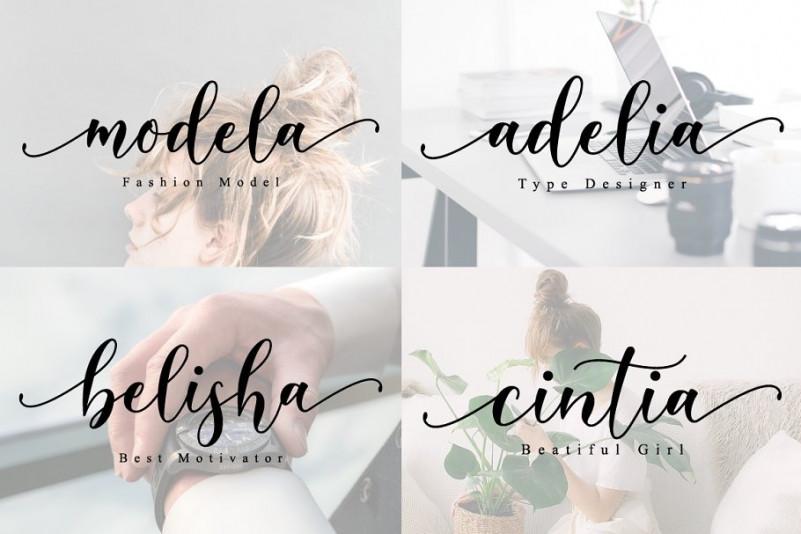 Belista Calligraphy Font