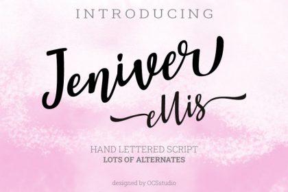 Jeniver Ellis Script Font