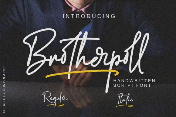 Brotherpoll Script Font