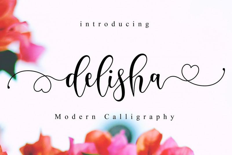 Delisha - Lovely Script Font