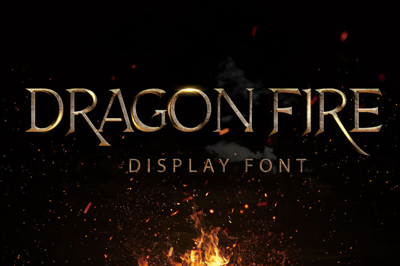 Dragon Fire Display Font