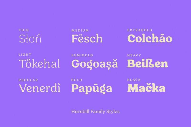 Hornbill Font Family