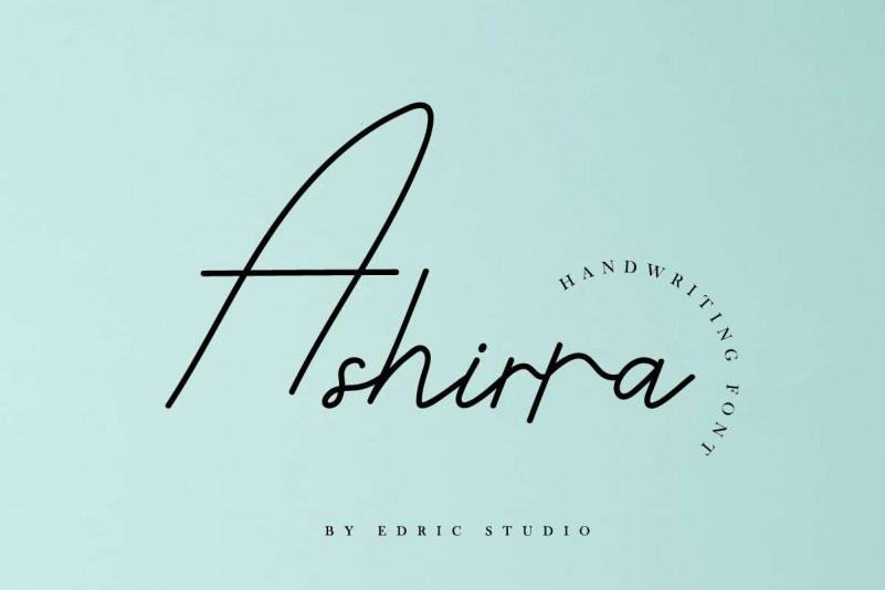 Ashirra Handwriting Font
