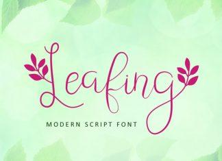 Leafing - Modern Script Font