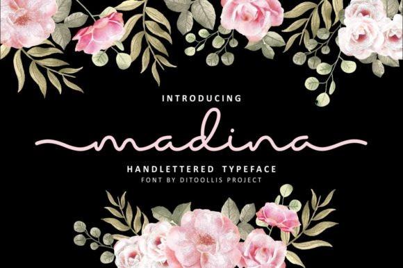 Madina Handlettered Font