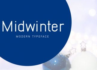 Midwinter Display Font