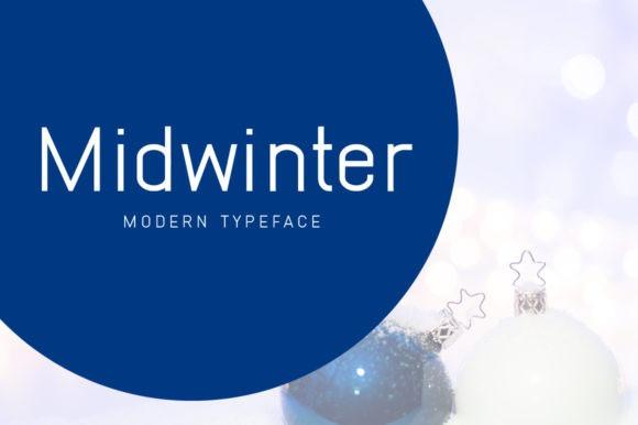 Midwinter Display Font