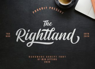 Rightland Bold Script Font